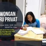 LOWONGAN GURU PRIVAT DI Petukangan Utara Jakarta Selatan : INFO LOKER GURU PRIVAT UNTUK SMP