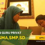 LOWONGAN GURU PRIVAT DI Kebon Baru Jakarta Selatan : INFO LOKER GURU PRIVAT UNTUK SMP
