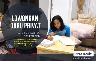 LOWONGAN GURU PRIVAT DI Jagakarsa Jakarta Selatan : INFO LOKER GURU PRIVAT UNTUK SMP