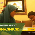 LOWONGAN GURU PRIVAT DI Tanah Sareal Jakarta Barat : INFO LOKER GURU PRIVAT UNTUK SMA
